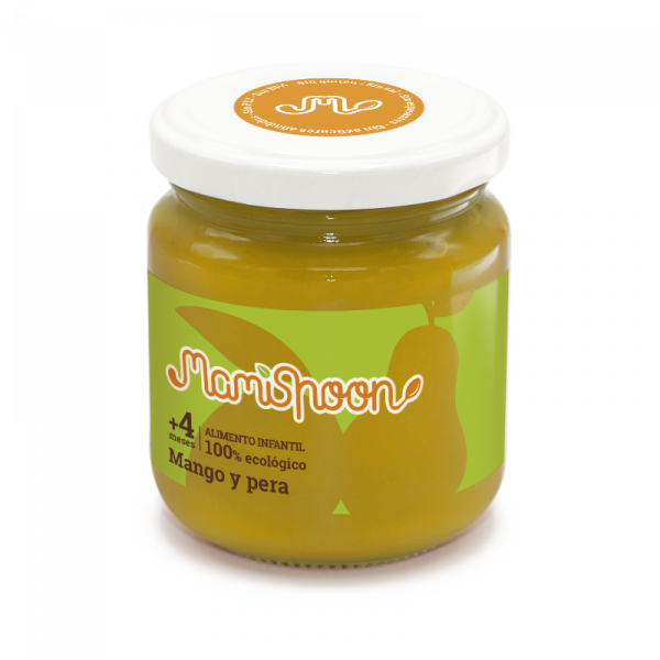 Potito ecológico de Mango y Pera (4 meses)